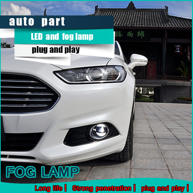 Car Styling Daytime Running Light for Ford Ecosport LED Fog Light Auto Angel Eye Fog Lamp LED DRL High&Low Beam Fast Shipping cawanerl 2 x car led daytime running light drl fog lamp 12v dc car styling high quality for ford ranger 2012 2015