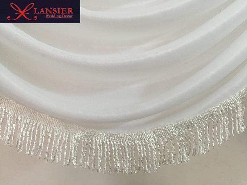 El botín de seda blanco desmontable para el telón de fondo de boda - Para fiestas y celebraciones - foto 6