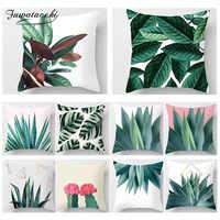 Fuwatacchi Planta Tropical Impressão Fronha Cadeira Do Sofá de Casa Decorativos Casos de Diamante Impresso Capa de Almofada Almofadas Decorativas