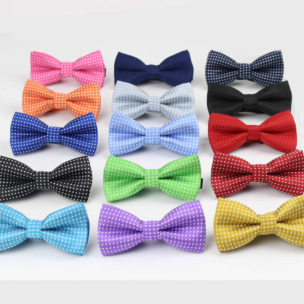 b74d185dc293 Cute Kids Boys Dot Bowtie Children Dog Cat Butterfly Type Necktie Pets Bow  Ties Designer Tie