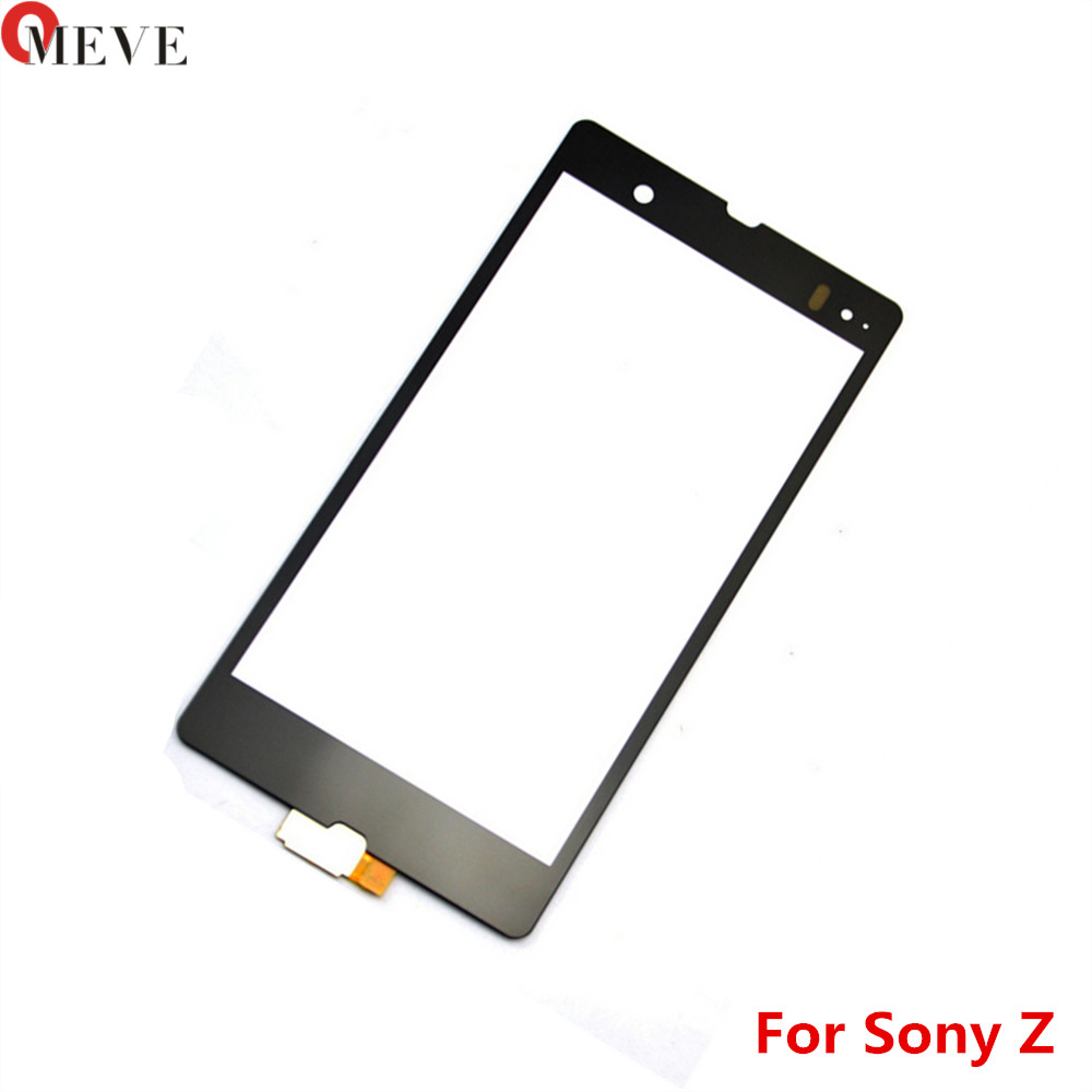 5.0'' High Quality For <font><b>Sony</b></font> <font><b>Xperia</b></font> <font><b>Z</b></font> L36h L36i C6606 <font><b>C6603</b></font> C6602 Touch <font><b>Screen</b></font> Panel Sensor Digitizer Outer <font><b>Glass</b></font> Lens image