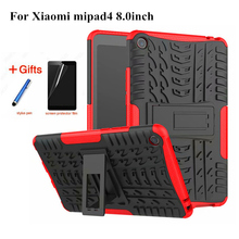 Case for Xiaomi Mi Pad 4 MiPad4 8.0'' Tablet Amor Case Colorful Grain TPU+PC Heavy Duty Case Hybrid Rugged Rubber+Film+Stylus leather case for xiaomi mi pad 4 mipad4 8 inch tablet case stand support for xiaomi mi pad4 mipad 4 8 0 case cover two style