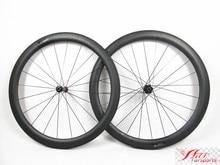Farsports FSC50-CM-23 DT240(36 Ratchets) road carbon composite wheels 50mm,straight DT hub carbon clincher wheels with Sapim