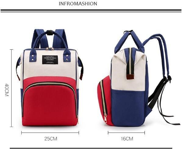 HTB1I3u8XEGF3KVjSZFvq6z nXXaf Multi-Function Mummy Maternity Nappy Bag Fashion Patchwork Large Capacity Baby Bag Travel Backpack Nursing Bag for Mom Designer