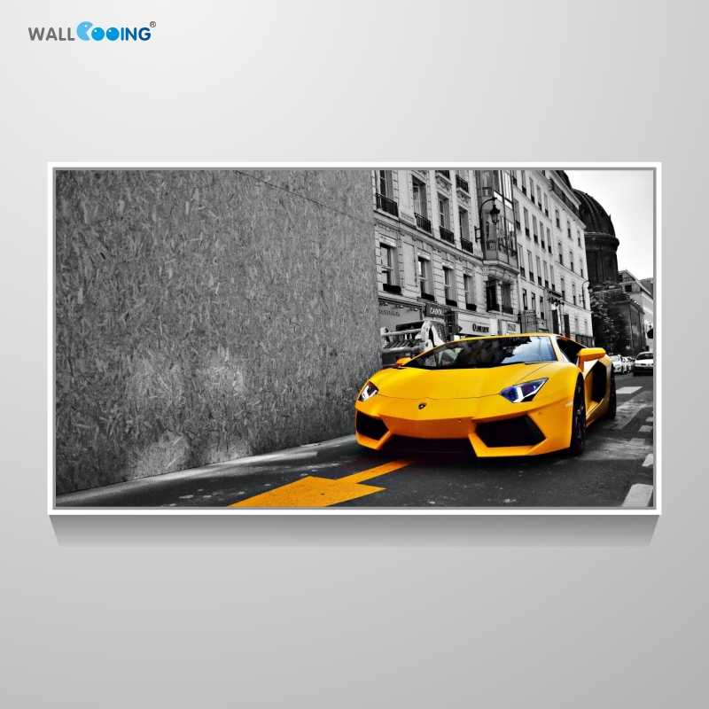 canvas painting Car picture sports car Lamborghini art poster livingroom wall decoration New calligraphy painting print