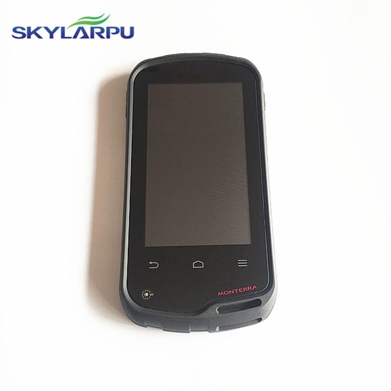Schermo LCD per Garmin Monterra TOPO skylarpu navigatore GPS Screen display LCD con Touch screen digitizer rimontaggio di Riparazione