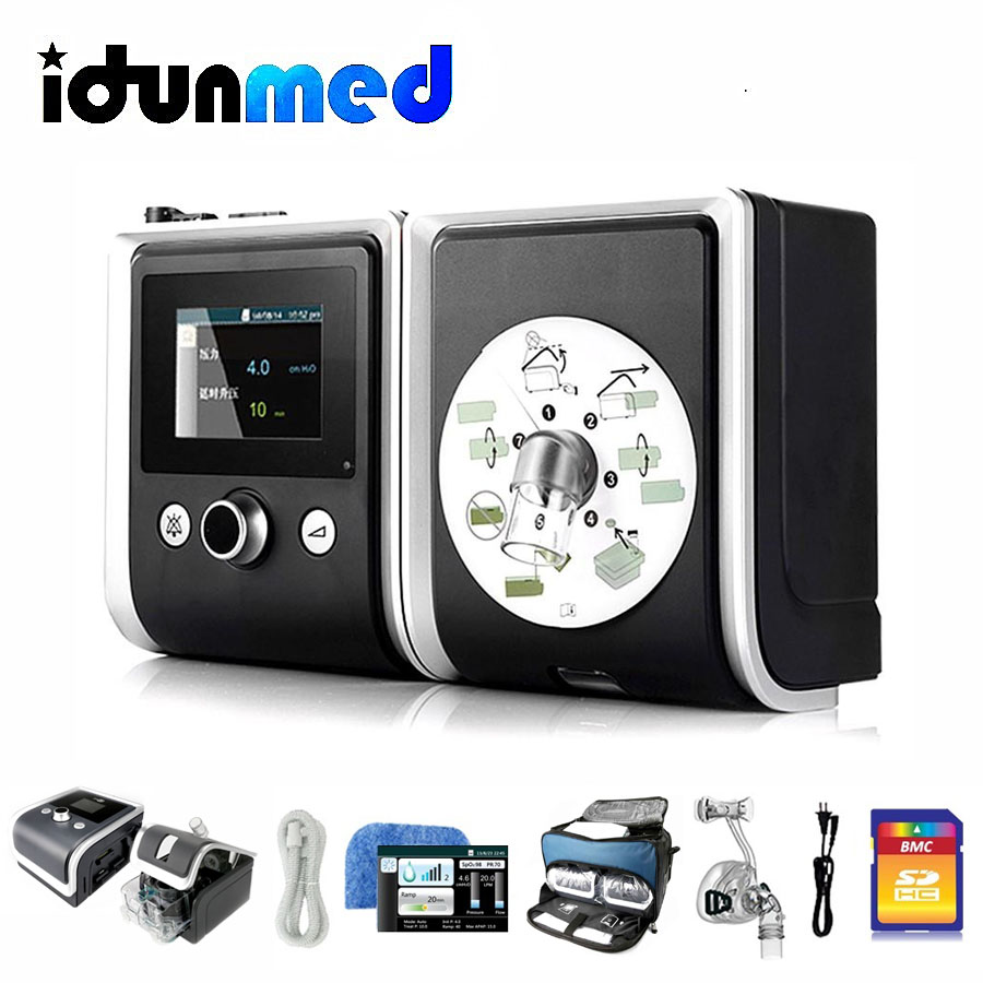 BMC CPAP GII CPAP Machine With Sleep Nasal Full Face Pillow Mask Tubing Breathing Apparatus For