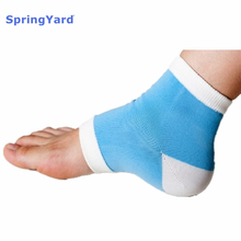SpringYard Polyester+Gel Socks Heel Protector Sleeve Foot SPA Cracked Heel Moisturize Cushion Soft Foot Care for Men Women недорого