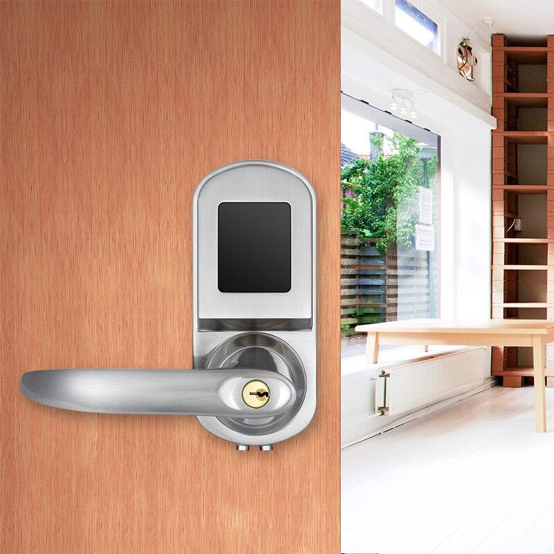 FUERS 2 bâtons de serrure électronique intelligente capteur de carte magnétique serrure de porte hôtel carte serrure IC carte hôtel serrure de porte