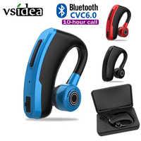 V10 negócios bluetooth fone de ouvido de carregamento rápido motorista handsfree fone com microfone voz comando cancelamento ruído para todo o telefone