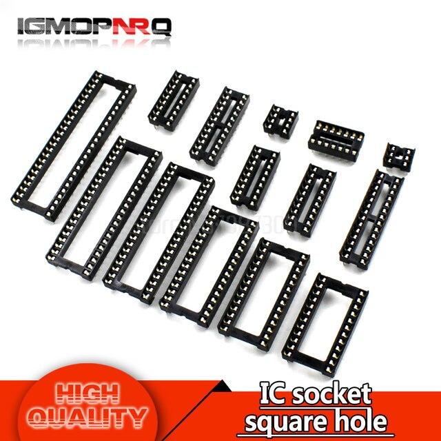 10PCS IC square hole IC socket DIP6 DIP8 DIP14 DIP16 DIP18 DIP20 DIP24 DIP28 6PIN 8PIN 14PIN 16PIN 18PIN 20PIN 24PIN