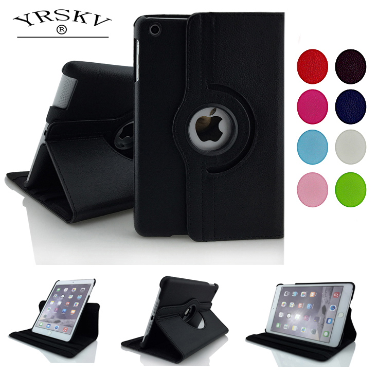 Case for iPad Air/Air 2 / for iPad 9.7 inch 2017 / 2018 YRSKV 360 Pu Leather Rotating Smart Auto Sleep Wake Stand Tablet Case kanen wired stereo lightweight foldable headphones adjustable headband headsets with microphone for smartphones iphone