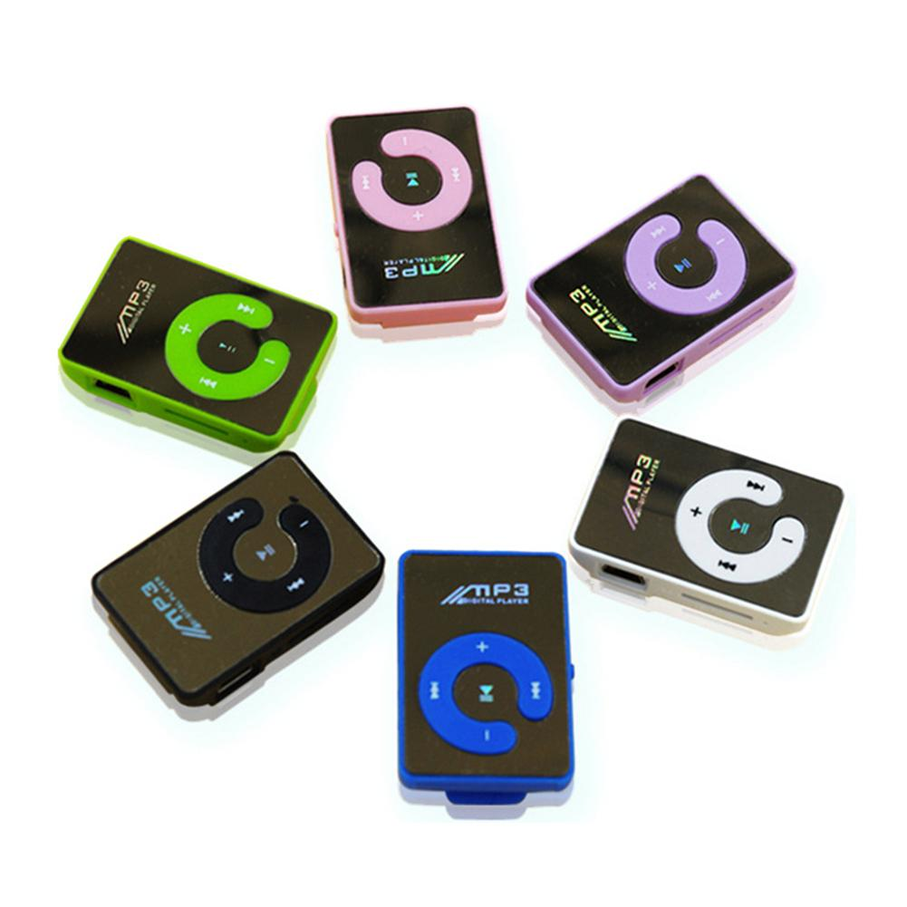 6 Colors Clamps Mini MP3 Player Supporting 8GB TF Card With USB Cable And Earphone Portable High Quality And Brand New