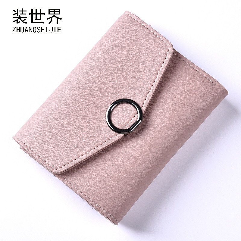 Women Small Wallets Circle Pendant Short Money Wallets PU Leather Lady Coin Pocket Purses Female Fashion Cardbag BB109 2018 luxury brand women small wallets short money wallets pu leather lady zipper coin pocket purses female fashion card bag