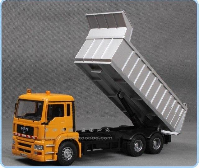 Large tipper hopper dump truck alloy car model toy car Skip dump truck transport