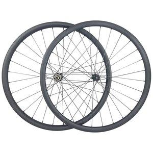 Image 1 - 1220g 29er MTB XC GRAVEL tubeless carbon wheels 30mm wide 25mm inner width 30mm deep center lock 6 bolt wheelset 15X100 12x142