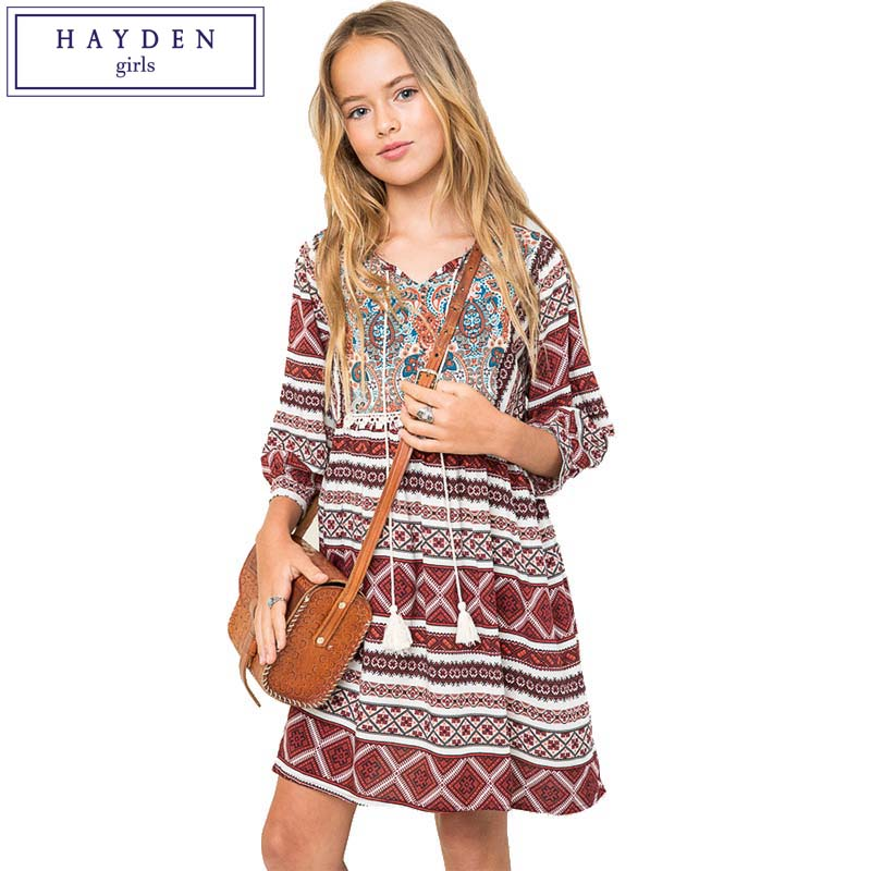 Aliexpress.com : Buy HAYDEN Girls Boho Dress Kids Vintage ...