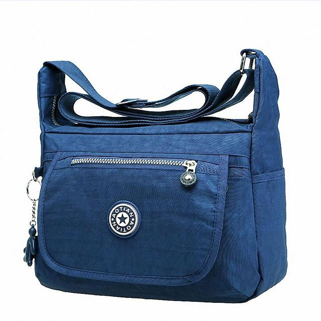 Moda Nylon sólida patchwork saco do mensageiro das mulheres à prova d' água portátil ultraleve mochilas de viagem saco de ombro ocasional