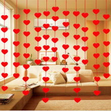 2,5 м счастливая семья любовь сердце занавес Нетканые гирлянды из флажков баннер для свадебного оформления день рождения поставки красный овсянка