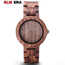 Unik Wood Watch Women Ladies Watches luxury Brazalete reloj Chronograph Date Quartz ladies wood watches