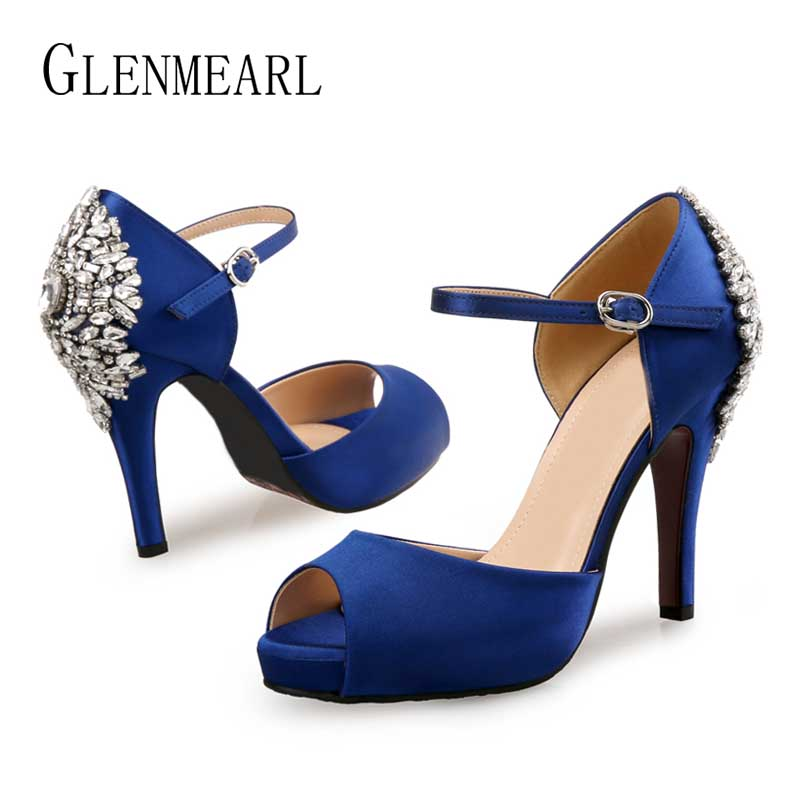 Women Pumps High Heels Brand Female Shoes Spring Summer Shoe Peep Toe Party Shoes Buckle Strape Casual Shoes Plus Size DE in Women 39 s Pumps from Shoes