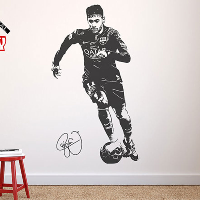 WALL STICKERS FOOTBALL Player NEYMAR Brazil Wall Vinyl Decal Sticker Fifa