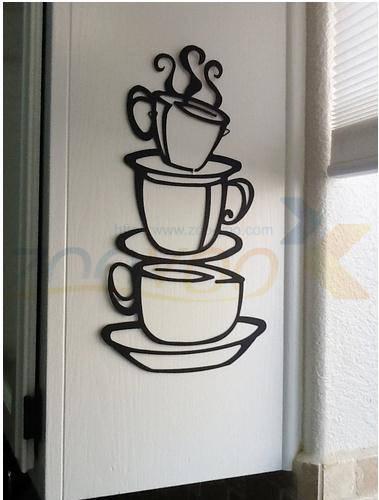 Muurdecoratie Voor Keuken.Us 1 87 9 Off Een Kopje Koffie Keuken Decoratie Woondecoratie Creatieve Muurdecoratie Decoratieve Sticker Zyva 8104 In Wandstickers Van Huis Tuin