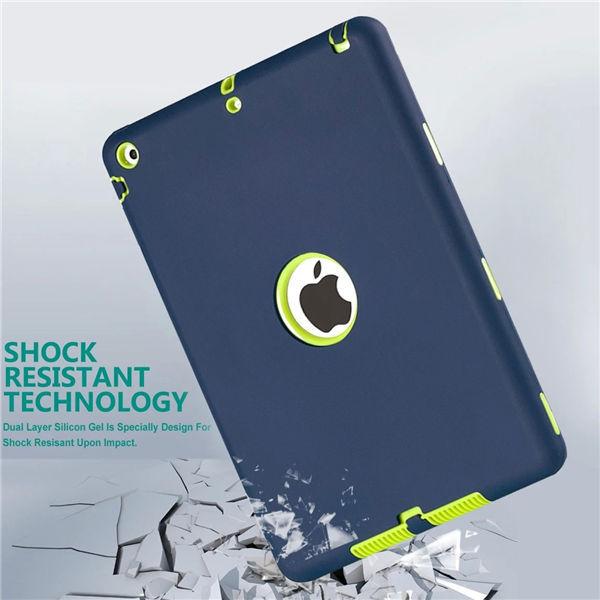 Ld protección a prueba de golpes de goma de silicona casos de la cubierta de caja de la pc para apple ipad air 1 niños híbrido para el ipad 5