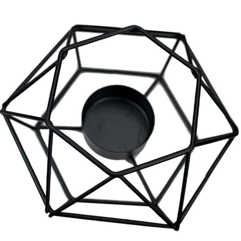 1 шт. геометрические минималистические стильные украшения подсвечник настенные бра соответствующие стальные маленькие подсвечники для чайника