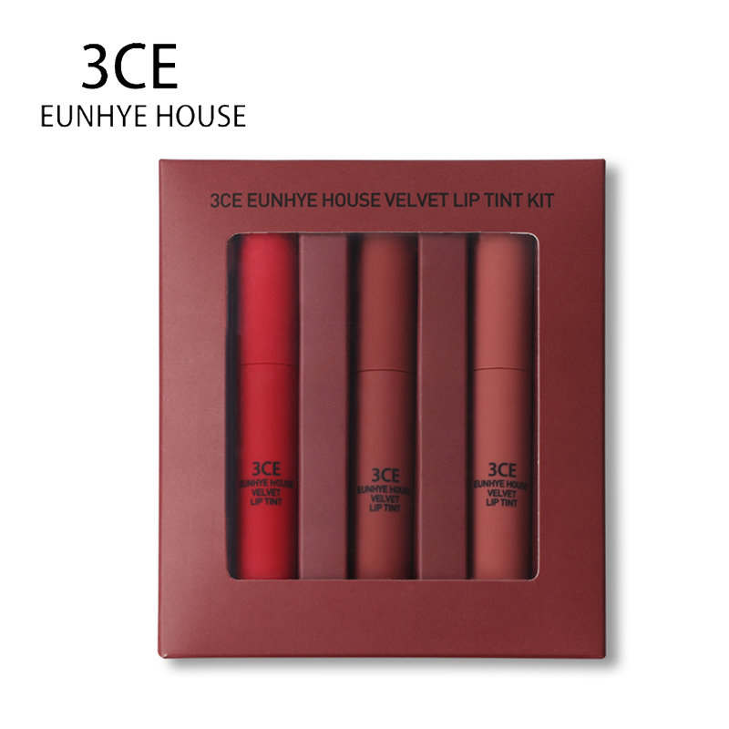 3ce Eunhye House Lipsticks Matte Liquid Lipstick Makeup Matte Lip Gloss Set Liquido Easy To Wear Long Lasting Batom 3 Color In 1 qibest 23colors set brand makeup matte proof lipstick long lasting effect soft waterproof matte lipsticks lip easy to wear