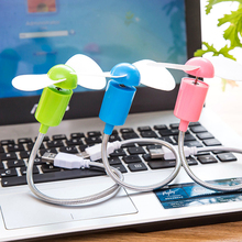 Long 30cm Soft adjustable USB fan Office hand fan Summer Ventilator mini Car hand fans for power bank USB hub PC latop notebook
