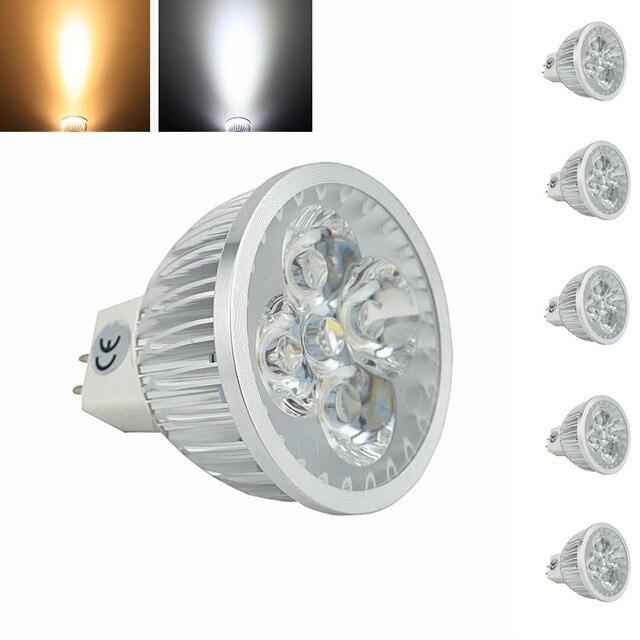 5PCS Free Shipping MR16 LED Spotlight Bulb, 12V AC/DC 4x1W MR16 Light Bulb