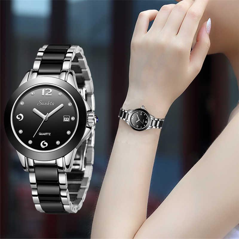 יוקרה למעלה מותג נשים של רוז זהב שעונים SUNKTA2019 חדש גבירותיי דקות שעון אופנה בוטיק ילדה שעון Senhoras assistir