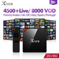 IP TV Arabic SUBTV IPTV Subscription S905X Android TV Full HD Live Android Box Tv 4K Xnano Turkey Portugal Albania IPTV Code