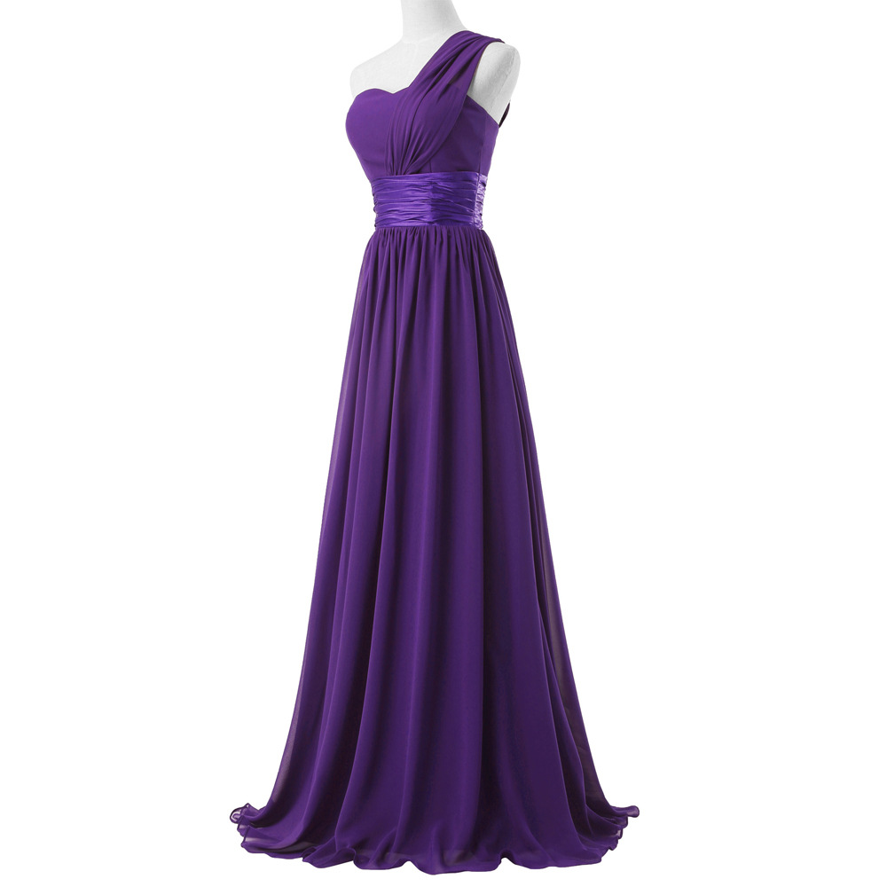 Blanco Negro Púrpura Borgoña Vestidos de dama de Honor para La Boda ...