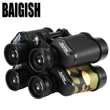 Discount! BAIGISH  8X30  Hd wide-angle Central Zoom  Military Metal Binoculars Telescope  Binocle  Field-glasses For Hunting Scope