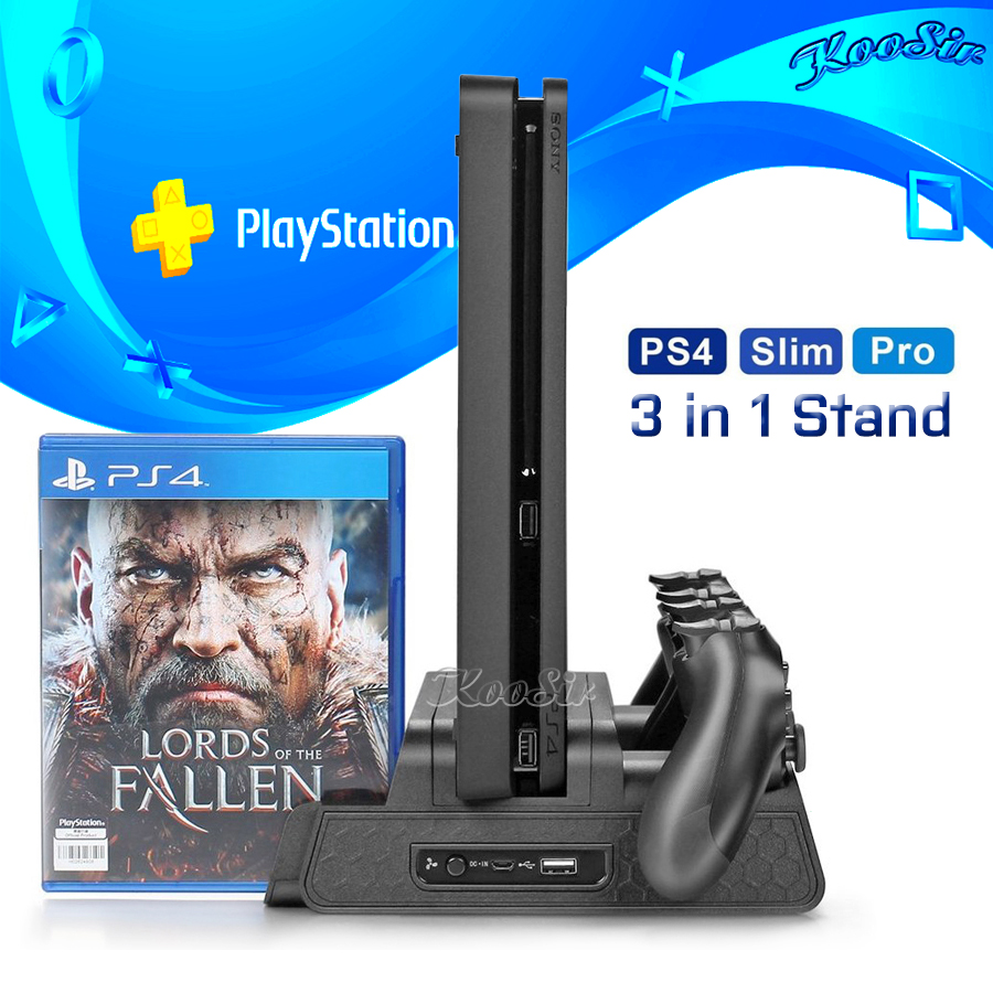 PS4/Slim/PRO Charging Stand Cooling Fan Cooler Dual Controller Charger Dock Station For Playstation 4 PS 4 Games Accessories