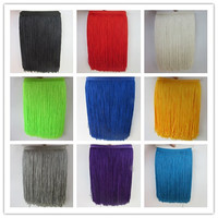 10 Yards 30CM Long Lace Fringe Trim Polyester Tassel Fringe Trimming For Diy Latin Dress Stage Clothes Accessories Lace Ribbon