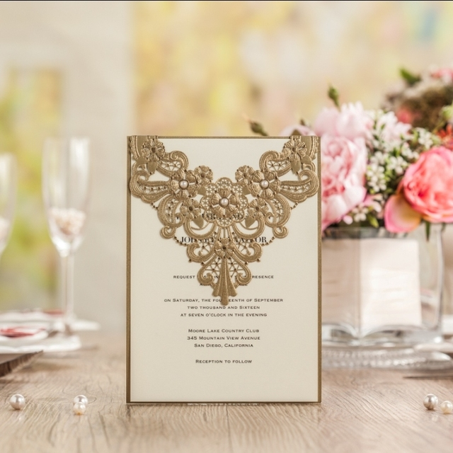 Aliexpress Buy CW5239 Jewelry laser cut gold wedding – Free Printable Harley Davidson Birthday Cards