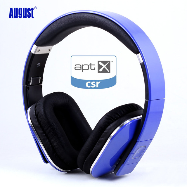 August EP650 aptx Bluetooth Headphones with NFC 3.5mm Audio In Wired or Wireless Stereo Bluetooth Headset for tv