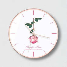 Selling Mute Wall Clock Home Needle Rose Gold Pink  Creative Fashion Decoration Reloj Pared Modern Decor 5K531
