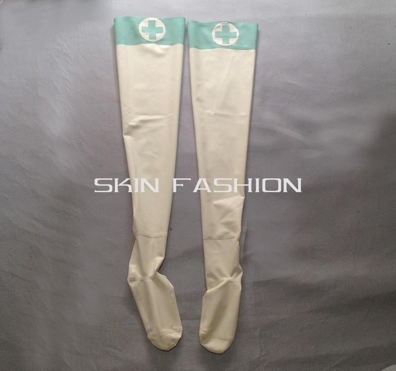 Для женщин модные медицинский латекс боди+ Перчатки+ чулки