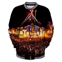 284b66fb99 Tomorrowland 3D imprimir chaqueta de béisbol básica Popular cómodo alta calle  Hipster moda Casual clásico chaqueta