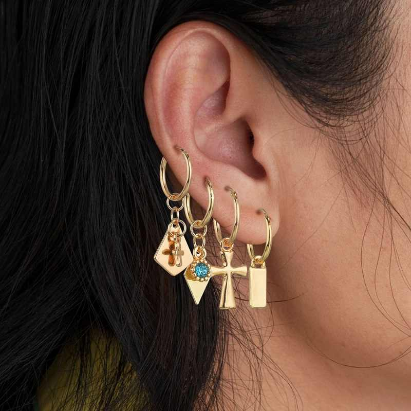 Exknl Korean Natural Shell Drop Earrings Sweet Bohemian Sun Summer Conch Sea Shell Clip on Earring Boho 2019 Fashion Jewelry