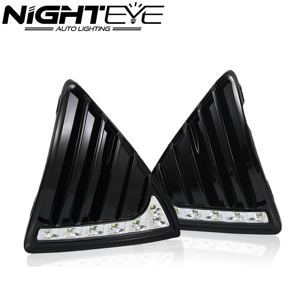ФОТО Nighteye 6300-6500K 7 LED DRL Daytime Running Light 12V Daylight Head Lamp for Ford Focus 2012-2013 Led Car Light Free Shipping