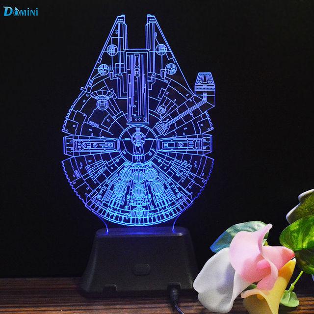 Presentes criativos Lâmpadas Luzes Da Noite 3D de Star Wars Death Star USB Led Desk Mesa Lampara Como Home Decor Quarto de Leitura nocturna cintilante