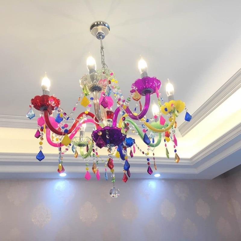 Modern chandeliers led crystal lighting bohemia colorful chandelier modern chandeliers led crystal lighting bohemia colorful chandelier lustres de cristal decorative lamps pendant lamp in chandeliers from lights lighting aloadofball Images