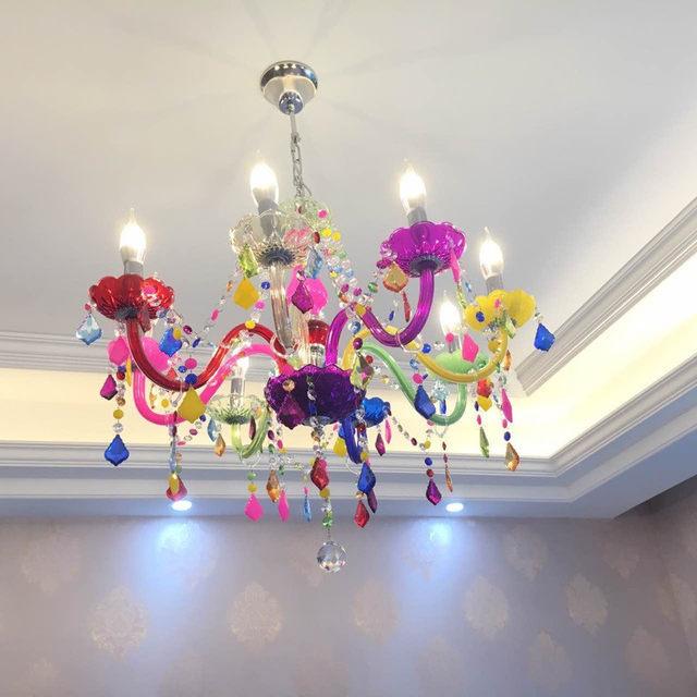 Online Shop Modern Chandeliers LED Crystal Lighting Bohemia Colorful