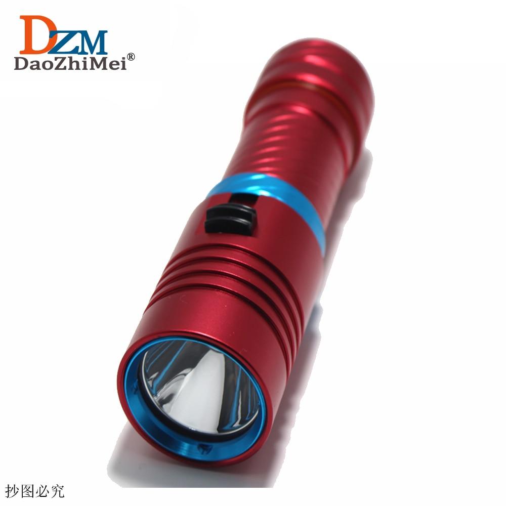 D001 Portable 5000LM CREE XM-L2 LED Waterproof Torch Flashlight Light Scuba 100m Underwater Diving Flashlights 18650/26650