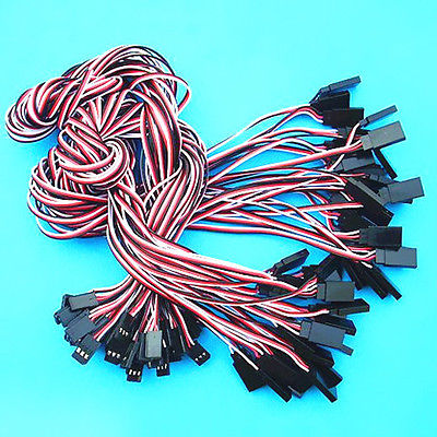 50 x 500mm RC Model Servo Extension Cord Lead Wire Connector Cable